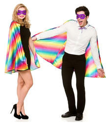 Rainbow Superhero Cape & Mask