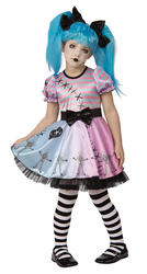 Little Blue Skelly Girls Costume