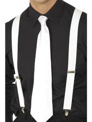 White Gangster 20s Braces Costume