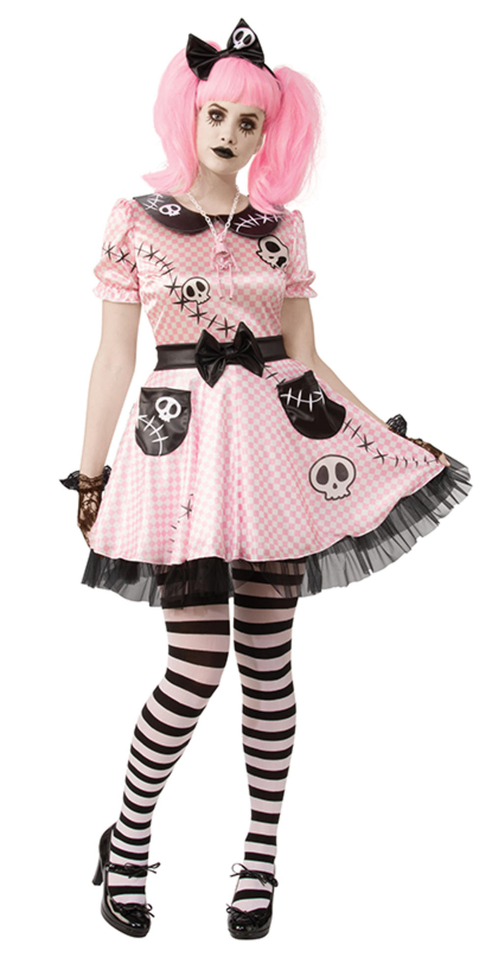Ladies Pink Skelly Costume