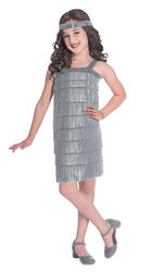 Silver Flapper Girl Costume