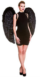 Giant Black Feather Wings