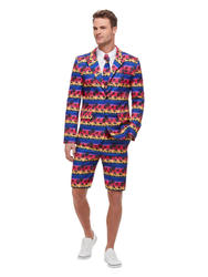 Mens Sunset Flamingo Suit