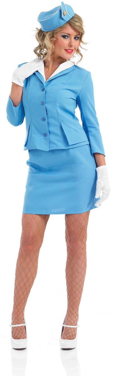 Blue Cabin Crew Costume