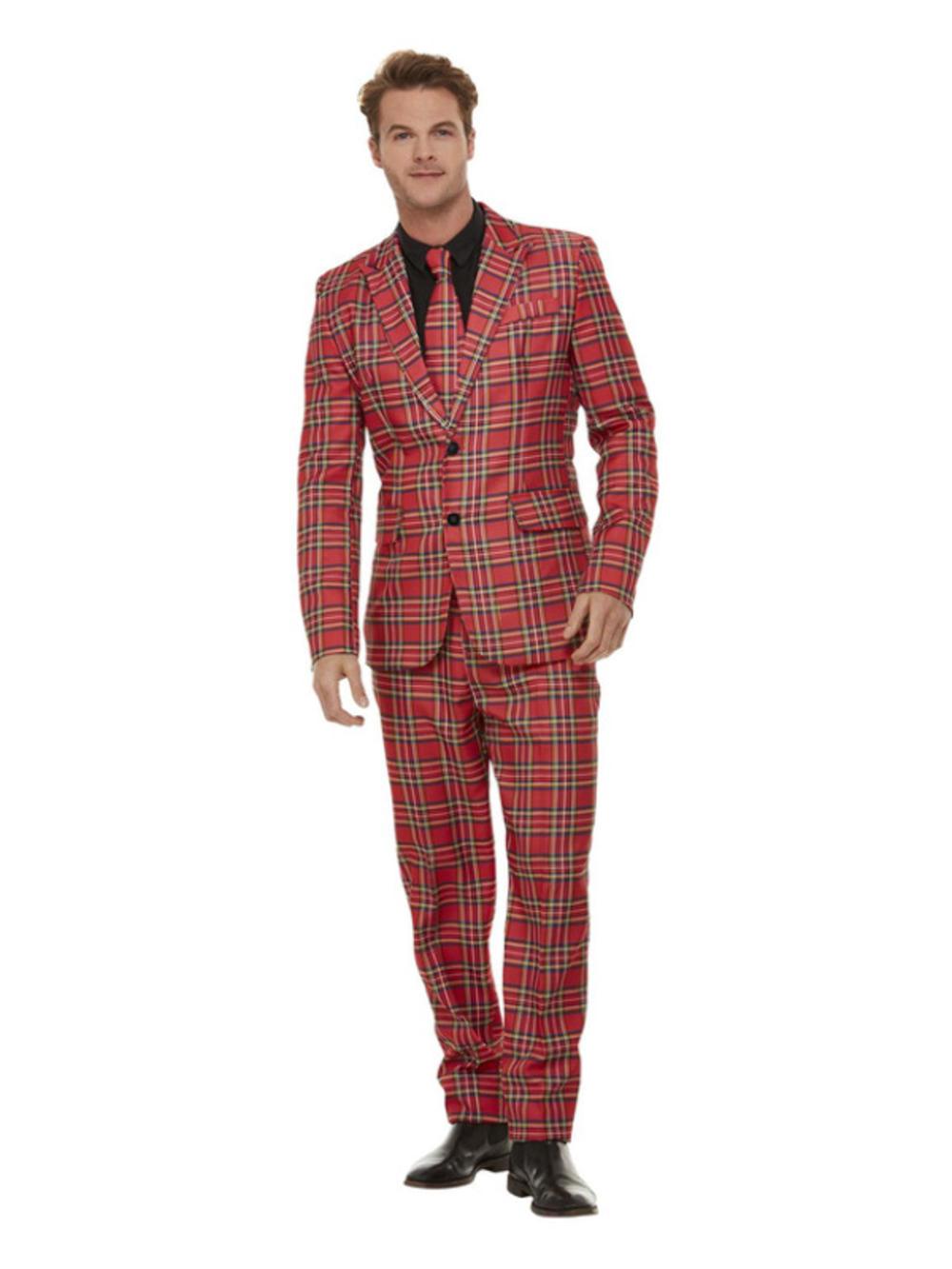 Mens Tartan Suit