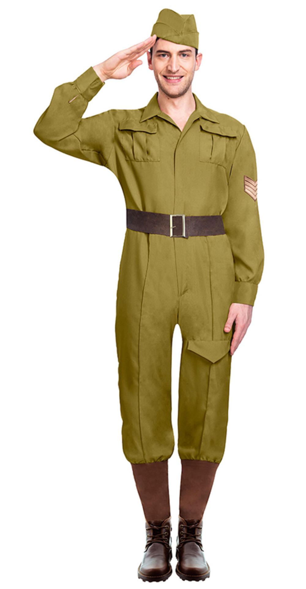 Mens Wartime Soldier Costume
