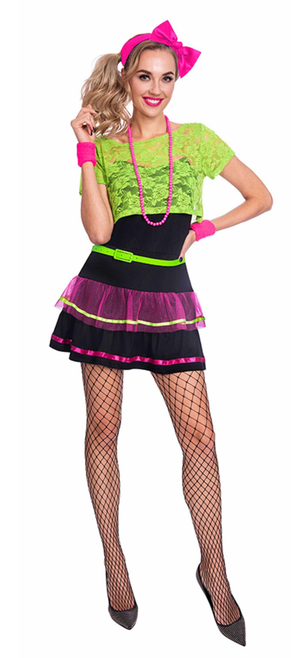Neon Pop Diva Ladies Costume