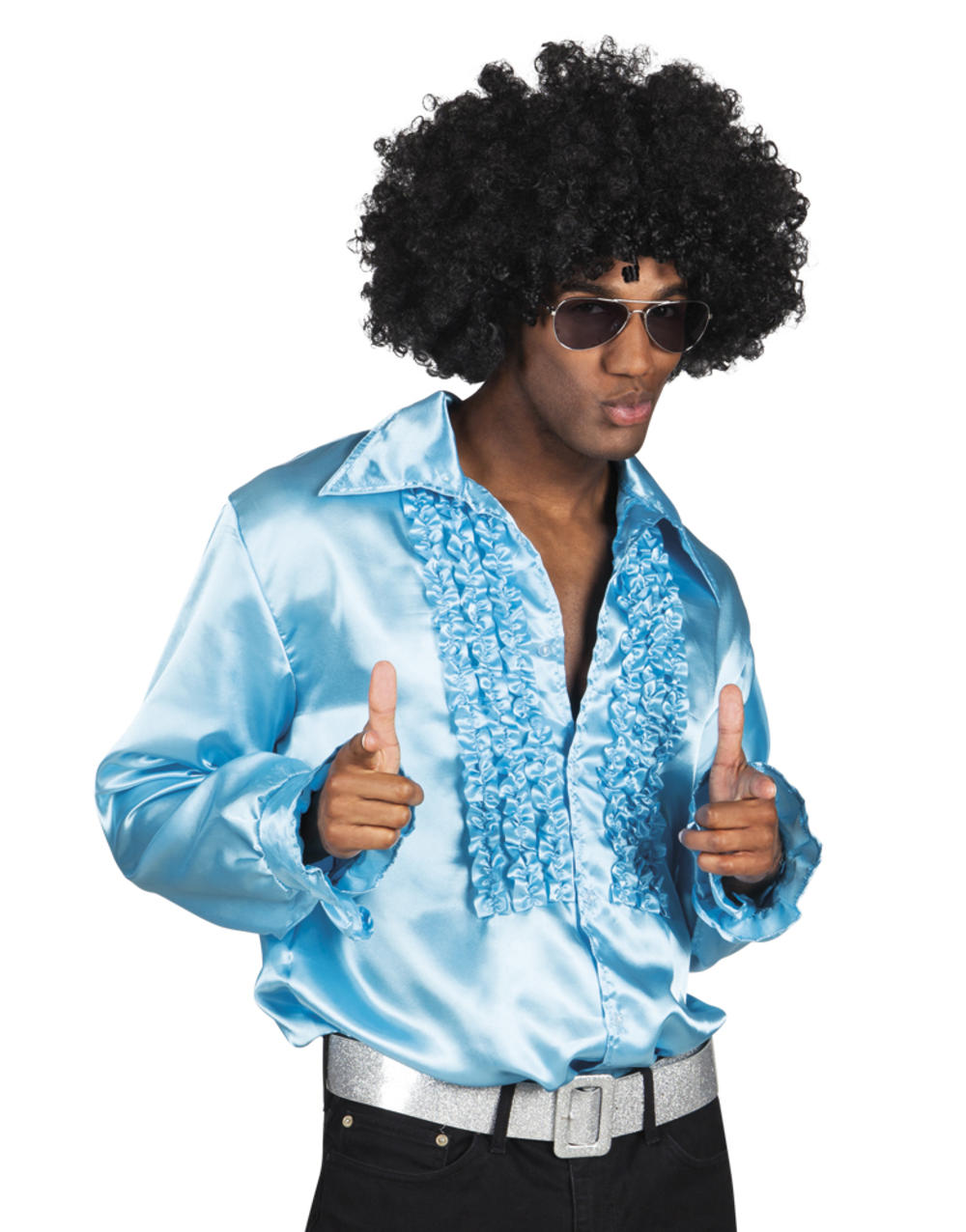 Mens Turquoise Party Shirt