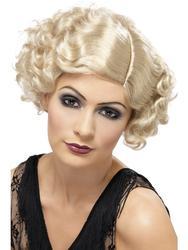 20s Blonde Flapper Wig Costume Accessory