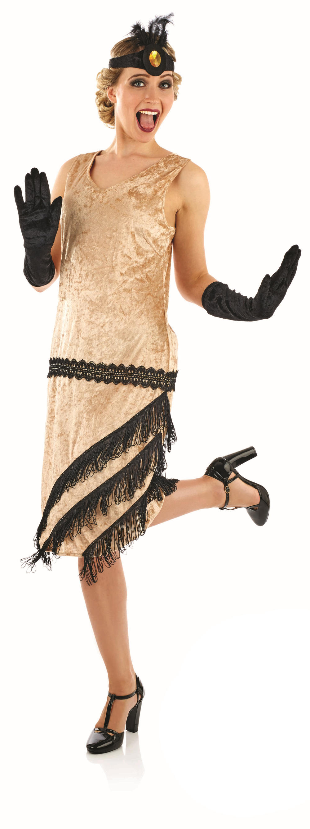20s Charleston Flapper Girl Ladies Fancy Dress 1920s Gatsby Adults Costume