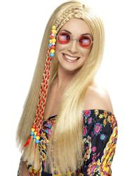 60s Long Blonde Hippie Wig Costume Accessory