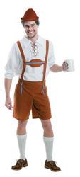 German Bavarian Mens Fancy Dress Oktoberfest Lederhosen Beer Man Adults Costume