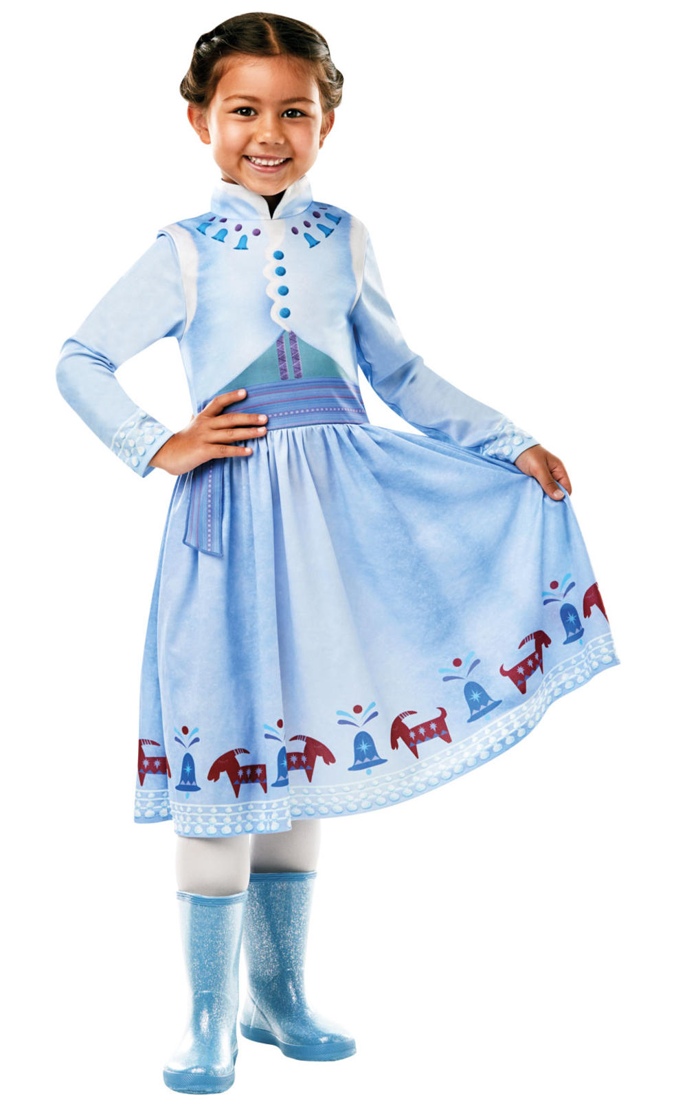 Anna Girls Fancy Dress Frozen Disney Princess Olaf Adventures Fairy Tale Costume