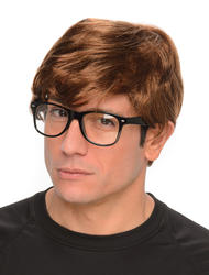 Austin Powers Mens Wig and Glasses Costume Accessory