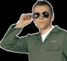 Aviator Sun Glasses Costume Accessory