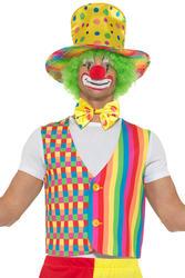 Rainbow Clown Kit Adults Fancy Dress Circus Carnival Fun Costume Accessory Set