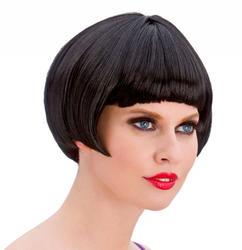 Black 1920s Flapper Wig Costume Accessory