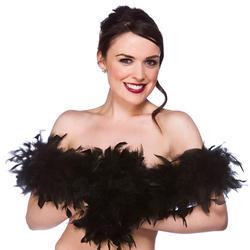 Black Feather Boa Costume Accessory