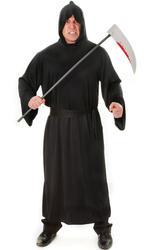 Black Mens Robe Costume Accessory