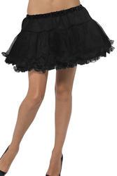 Black Petticoat with Satin Band Costume Accessory