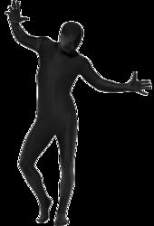 Black Second Skin Suit Costume