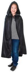 Black Velvet Hooded Cloak Costume Accessory