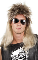 Blonde 80s Mullet Wig Costume Accessory