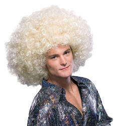 Blonde Oversized Afro Adult's Wig Costume Accessory