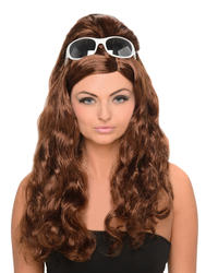 Brown Curly Penny Women's Wig Costume Accessory