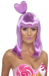 Candy Queen Katy Perry Lilac Wig Costume Accessory