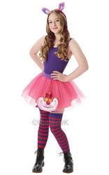 Cheshire Cat Tutu Set Ladies Fancy Dress Disney Wonderland Teens Adult Costume