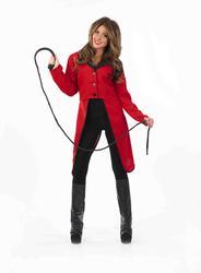 Red Circus Ringmaster Jacket Ladies Uniform Fancy Dress Costume Outfit UK 6-22