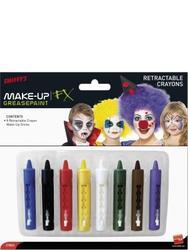 Coloured Make Up Sticks - Eight Colours Costume Accessory