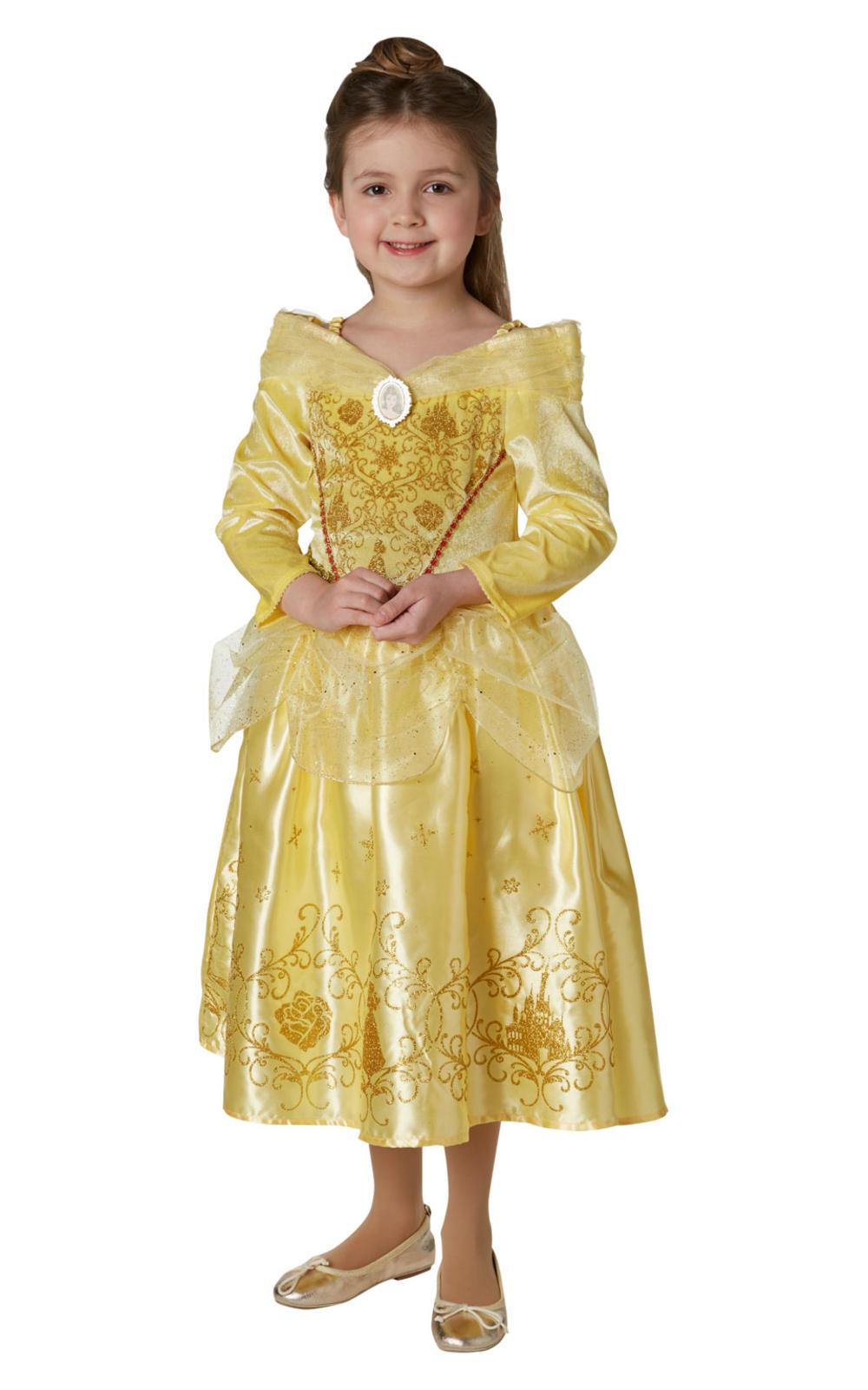 Winter Belle Girls Fancy Dress Disney Beauty and The Beast Childrens Kid Costume