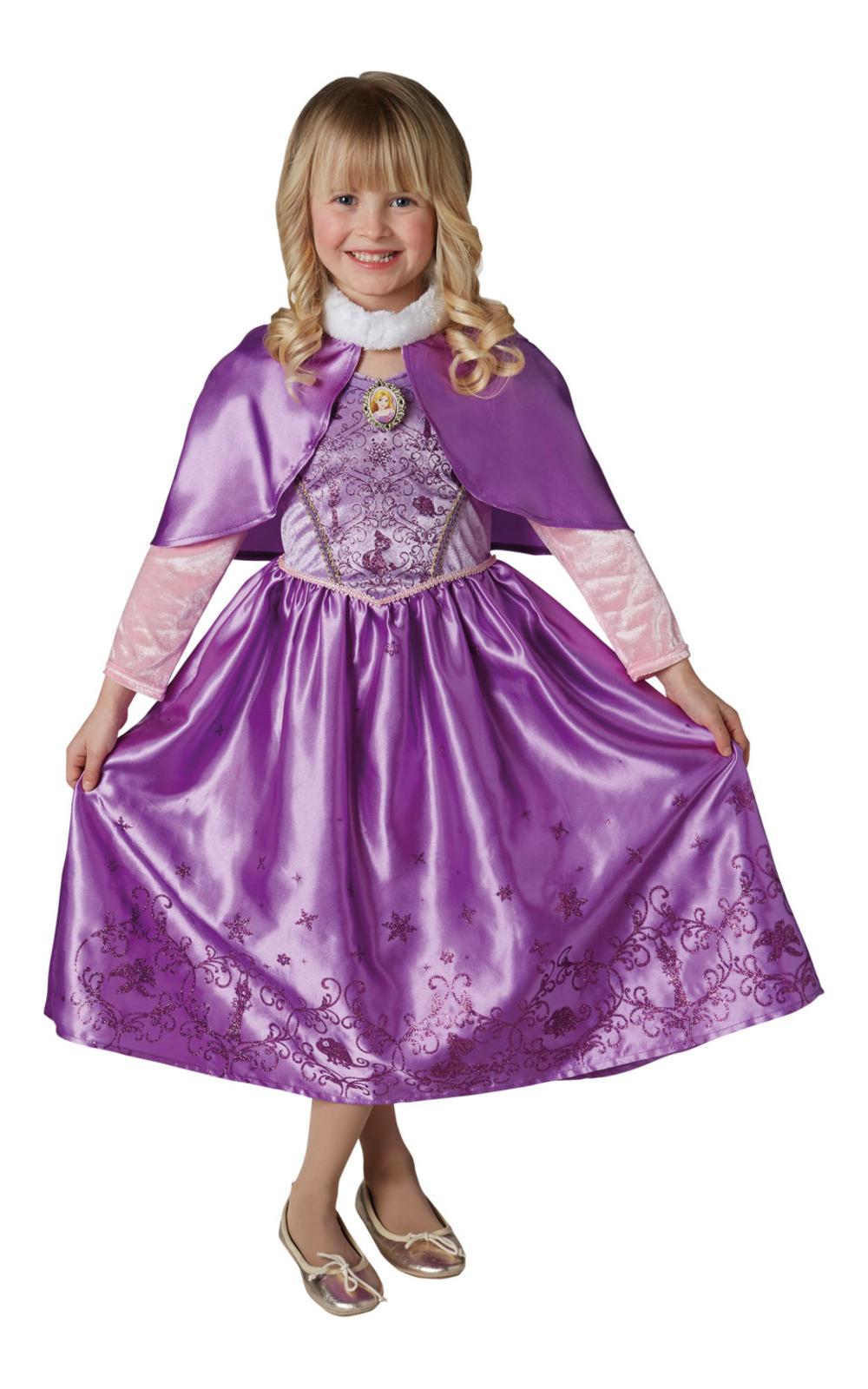 Winter Rapunzel Girls Fancy Dress Disney Tangled Fairy Tale Childrens Costume