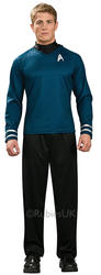 Dr Spock Shirt Mens Fancy Dress Star Trek Blue Sci Fi Movie Adults Space Costume