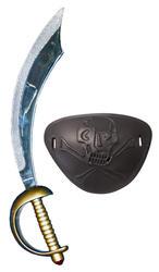 Eyepatch & Sword Pirate Set Costume Accessory