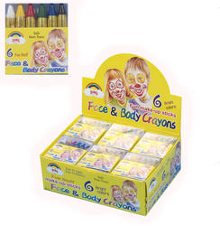 Face & Body Paint Crayons in 6 Fun Colours Costume Accessory