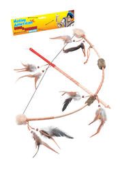 Feathered Indian Bow & Arrow Set Costume Accessory