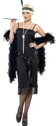 Charleston Black Flapper Dress 20's Fancy Dress 1920s Costume Outfit UK 8-22