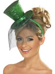 Fever Green Mini Top Hat Costume Accessory
