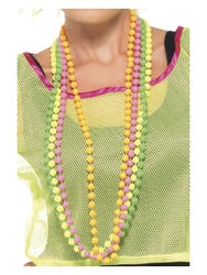 Fluorescent Bead Necklace Costume Accessory