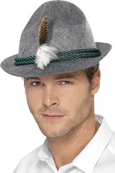 German Trenker Hat with Feather Costume Accessory