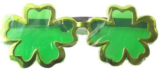 Giant Clover Irish Sunglasses Costume Accessory