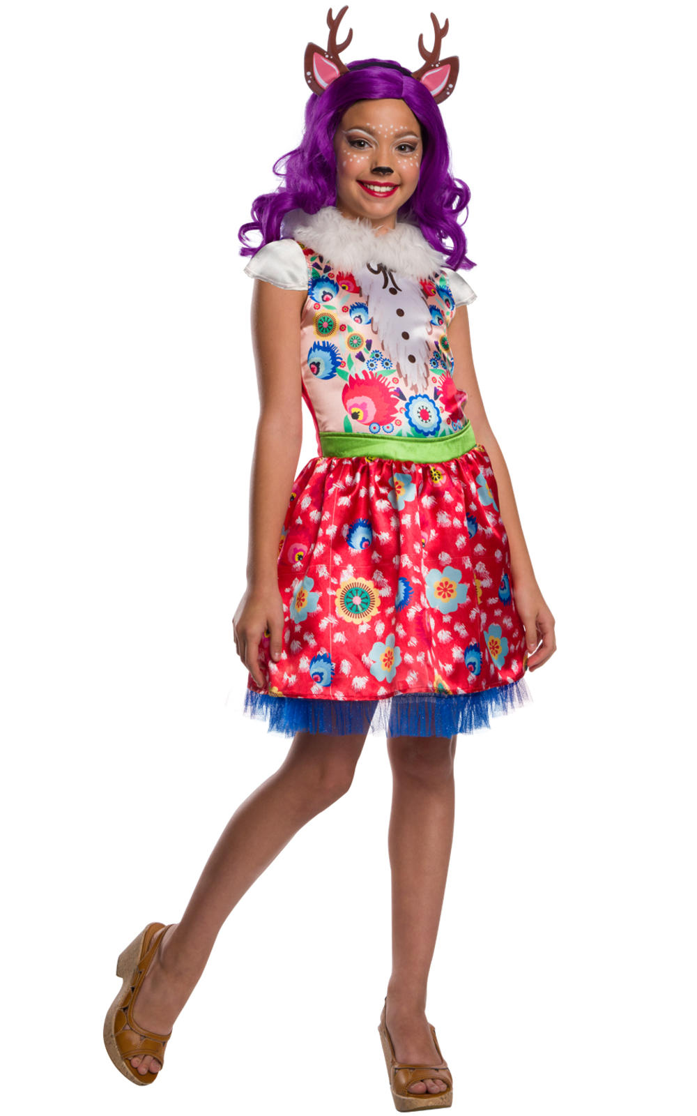 Danessa Deer Girls Fancy Dress Woodland Enchantimals Animal Kids Costume Outfit