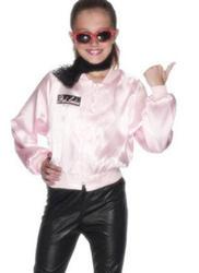 50s Pink Ladies Jacket Girls Fancy Dress 1950s Grease Movie Kids Toddler Costume