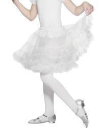 Girls Layered White Petticoat Costume Accessory