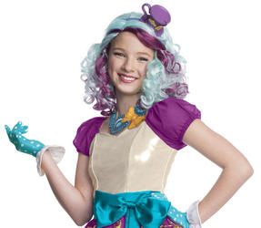 Girls Madeline Hatter Wig Costume Accessory