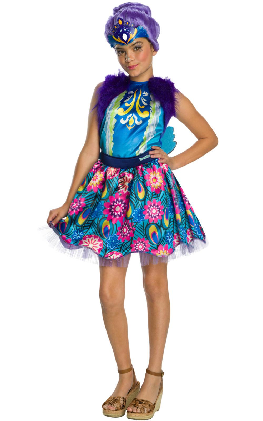Patter Peacock Girls Fancy Dress Enchantimals Animal Kids Fairy Tale Costume New
