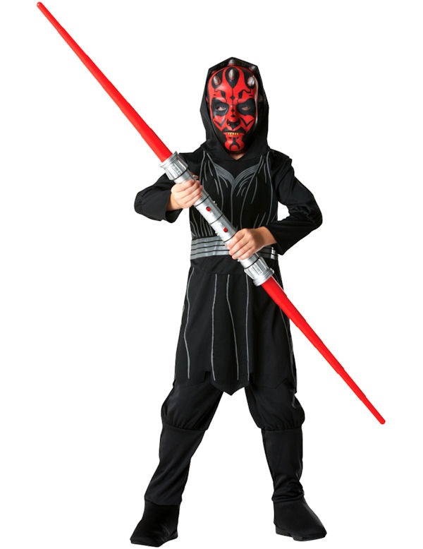 darth maul boys star wars halloween fancy dress costume child kids